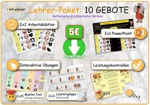 Lehrer-Paket Thema 10 GEBOTE