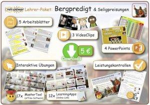 Lehrer-Paket Thema BERGPREDIGT und Seligpreisungen