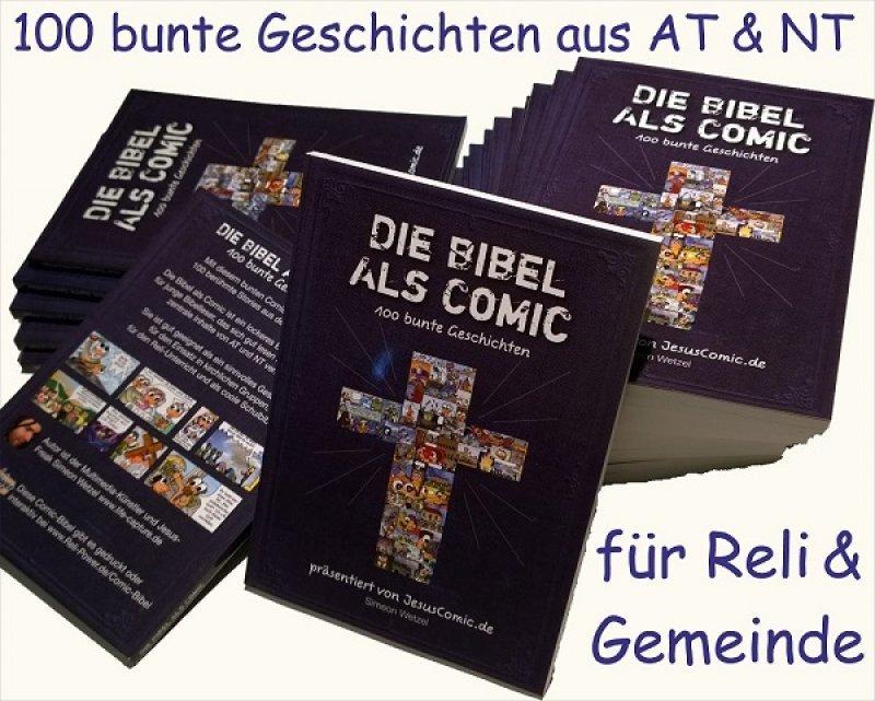 Die BIBEL als COMIC-Heft 100 bunte Geschichten