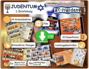 Lehrer-Paket Thema JUDENTUM Entstehung und 10 AT-Helden