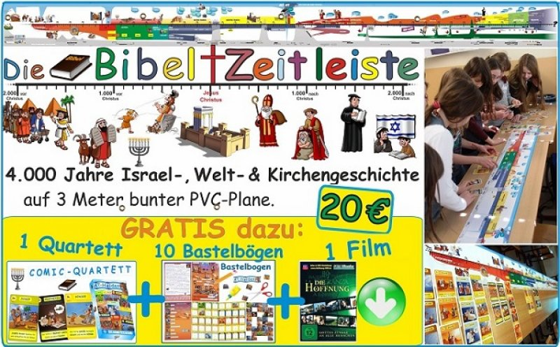 Bibel ZEITLEISTE 3m Plane plus AT-Extras